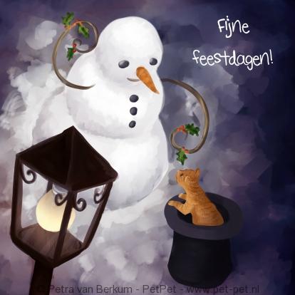 sneeuwpop-en-kat-onder-lantaarnlicht