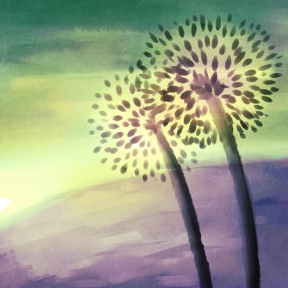 bloemsilhouet